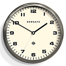 Buy Newgate The Crysler Wall Clock, Dia.40cm, Chrome Online at johnlewis.com
