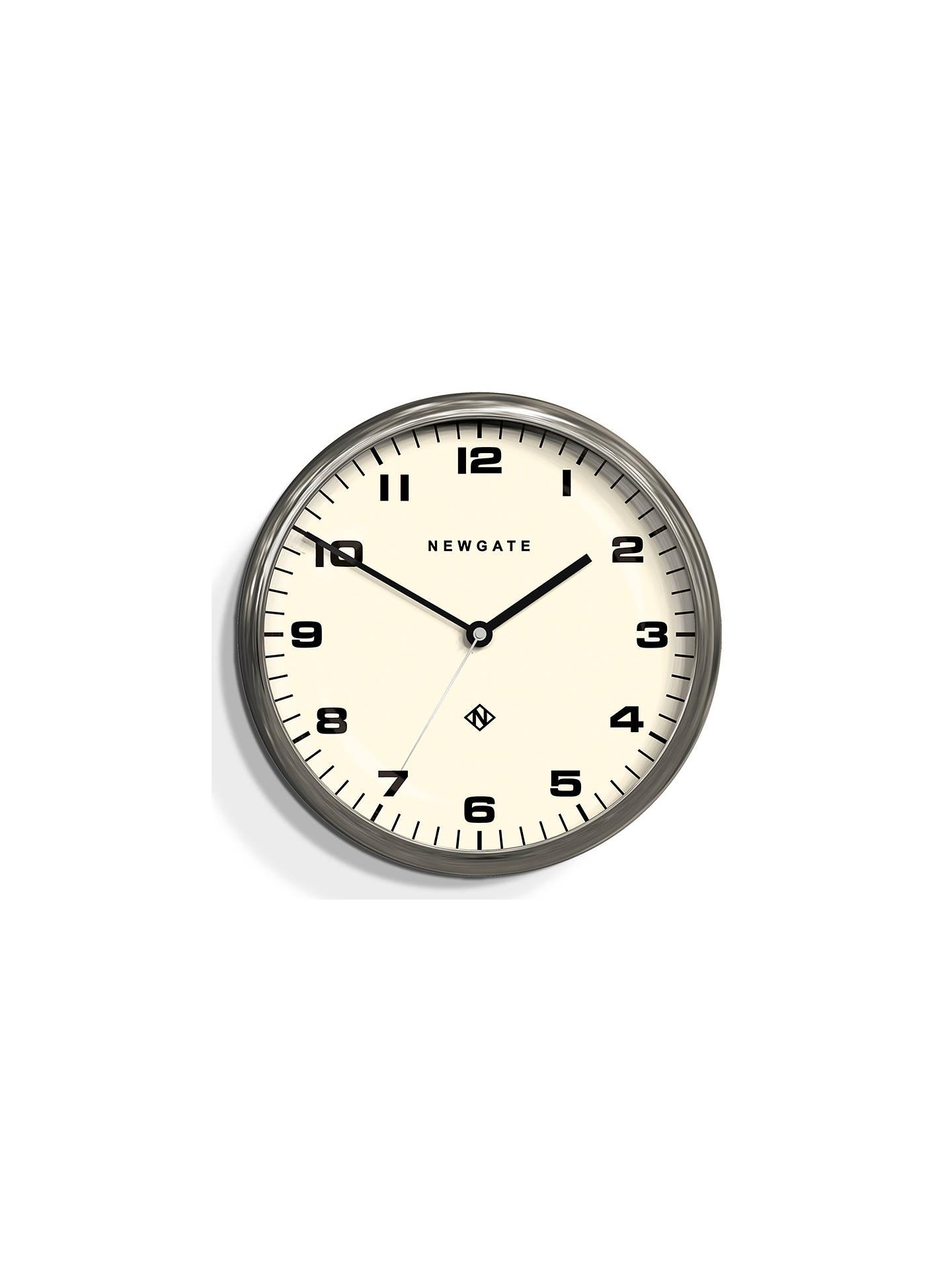 Newgate The Crysler Wall Clock Dia40cm Chrome At John Lewis