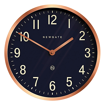 Newgate Master Edwards Wall Clock, Dia.30cm, Radial Copper