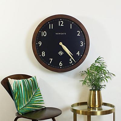 Newgate Billingsgate Oversized Wood Wall Clock, Dia.60cm, Brown