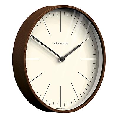 Newgate Master Clarke Wooden Wall Clock, Dia.28cm, Dark Wood