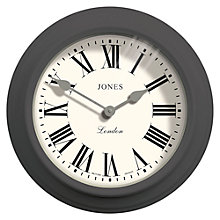 Buy Jones The Film Wall Clock, Dia.30cm, Grey Online at johnlewis.com