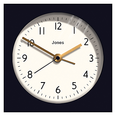 Jones Ingot Alarm Clock, Midnight Blue