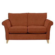Buy John Lewis Charlotte Small 2 Seater Sofa, Light Leg, Henley Terracotta Online at johnlewis.com