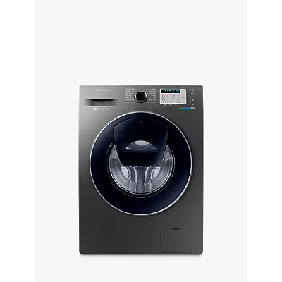 Samsung AddWash WW80K5413UX/EU Washing Machine, 8kg Load, A+++ Energy Rating, 1400rpm Spin, Inox