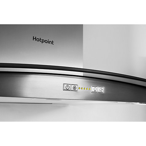 Buy Hotpoint PHGC6.5FABX Chimney Cooker Hood, Stainless Steel Online at johnlewis.com