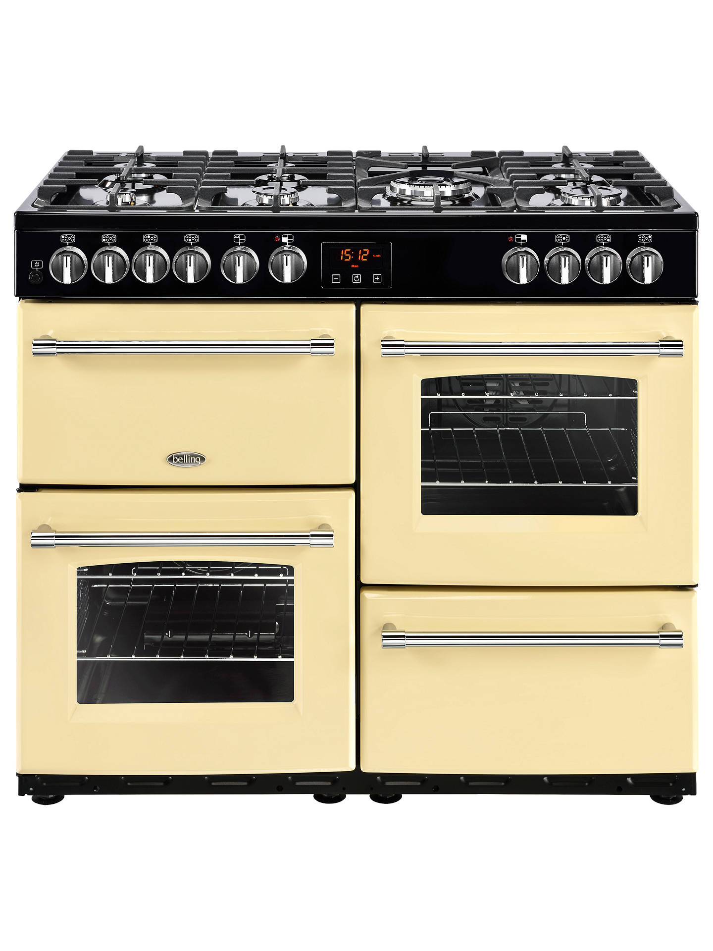 BuyBelling Farmhouse 100DFT Dual Fuel Range Cooker, Cream Online at johnlewis.com