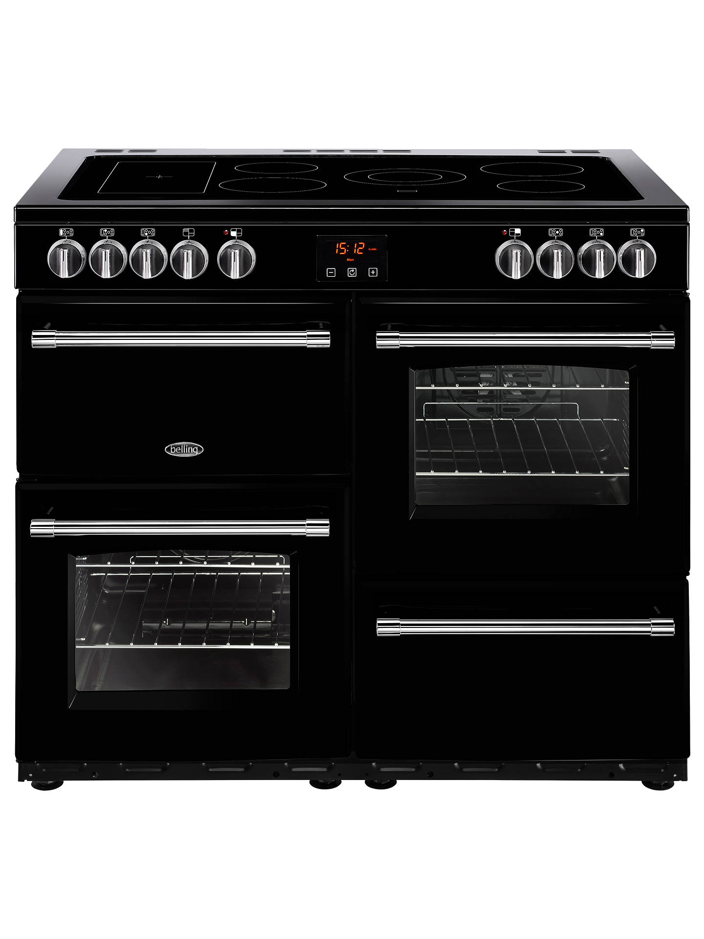 belling farmhouse 100e electric range cooker with ceramic hob atbuy belling farmhouse 100e electric range cooker with ceramic hob, black online at johnlewis