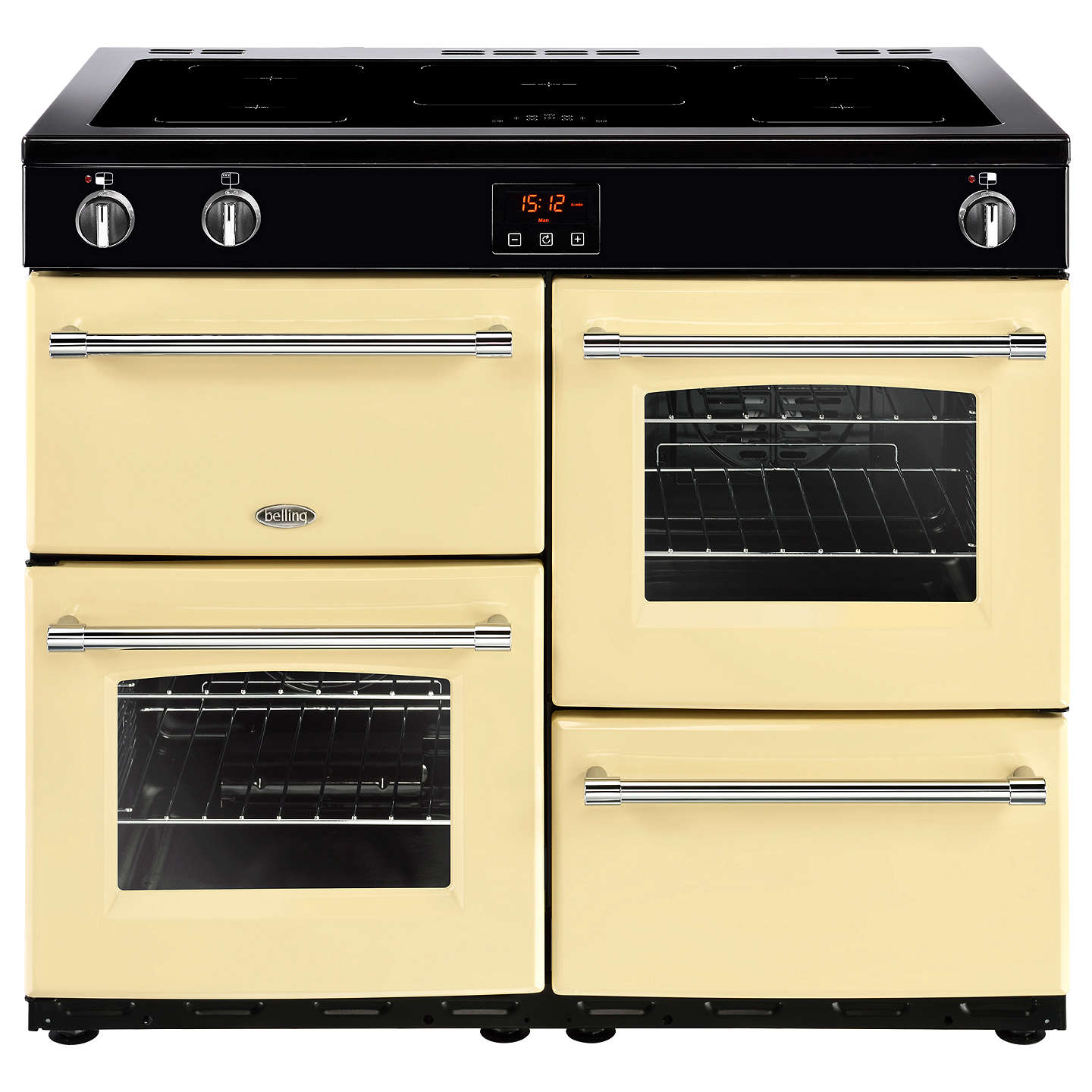 BuyBelling Farmhouse 100EI Electric Induction Range Cooker, Cream Online at johnlewis.com