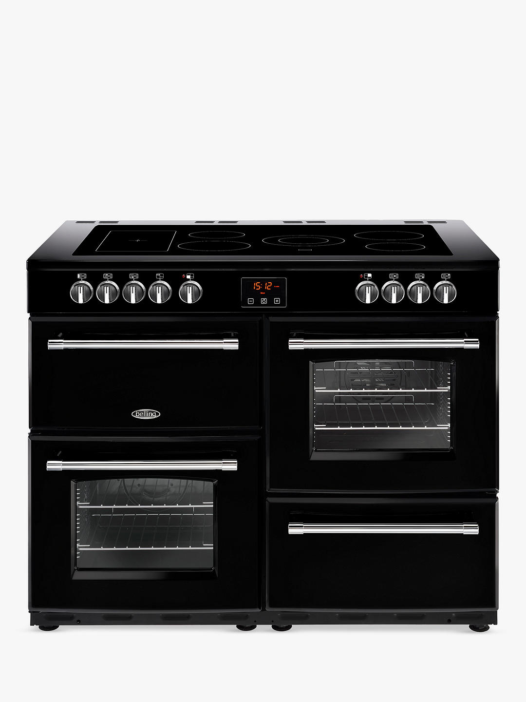 Buy Belling Farmhouse 110E Electric Range Cooker with Ceramic Hob, Black Online at johnlewis.com