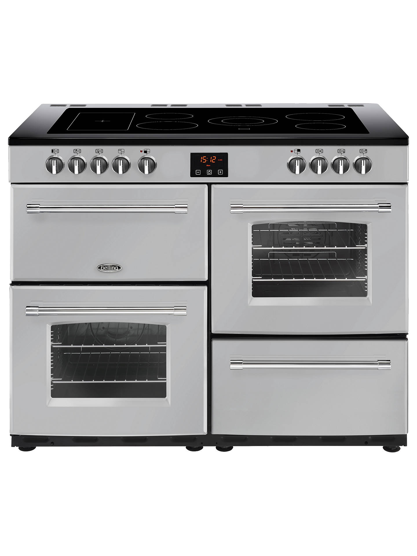 BuyBelling Farmhouse 110E Electric Range Cooker with Ceramic Hob, Silver Online at johnlewis.com