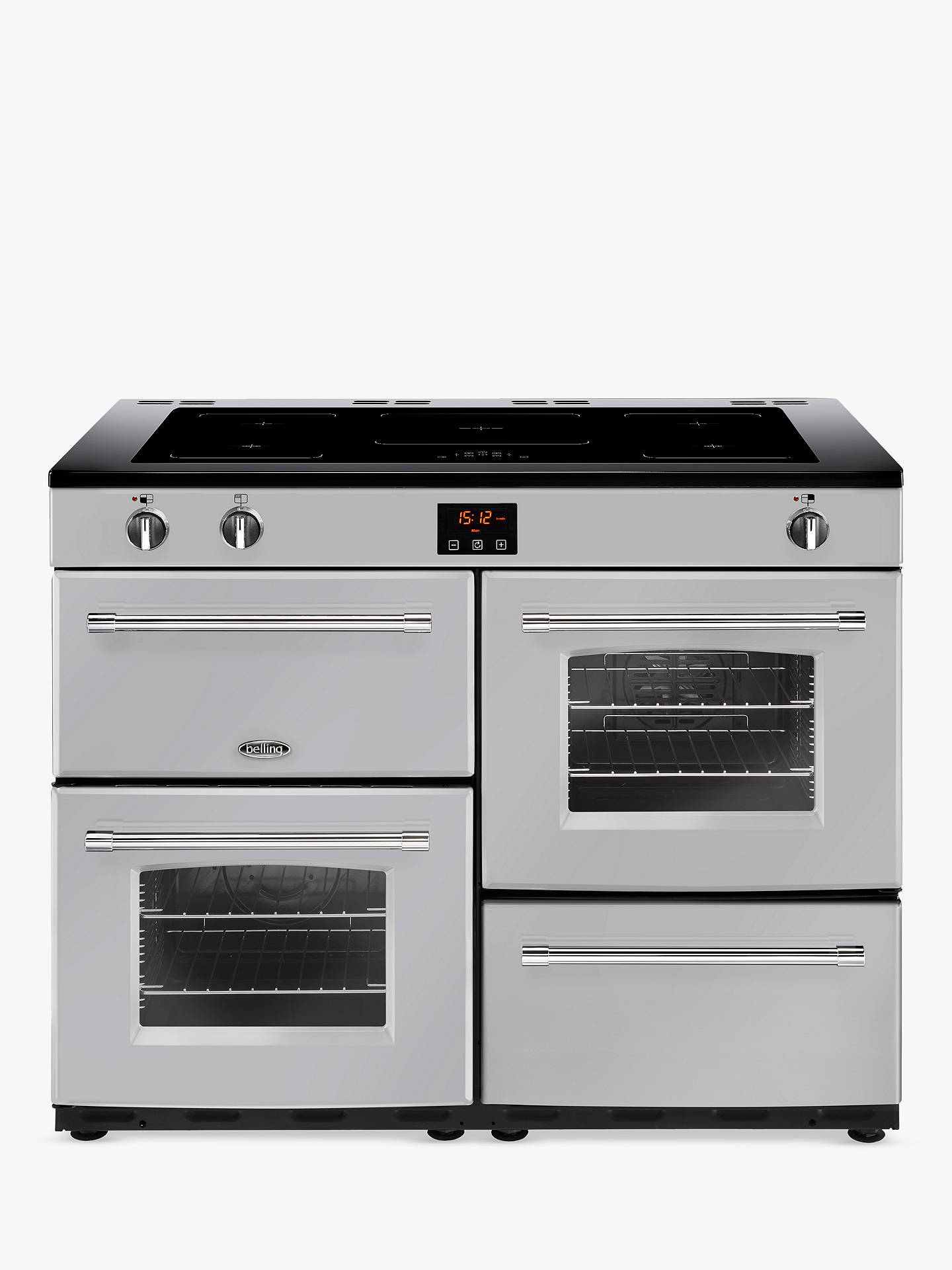BuyBelling Farmhouse 110EI Electric Induction Range Cooker, Silver Online at johnlewis.com