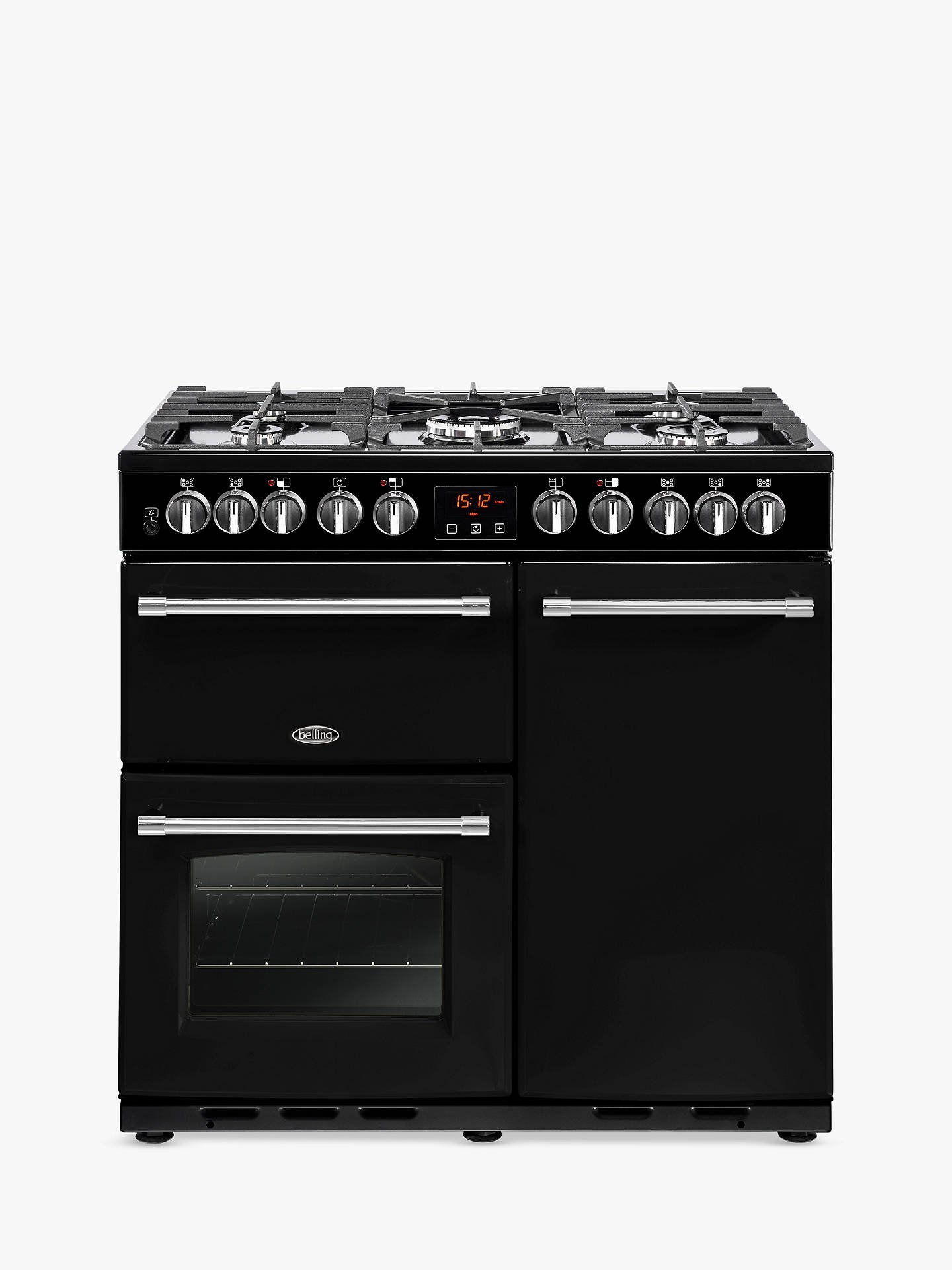 Buy Belling Farmhouse 90DFT Deluxe Dual Fuel Range Cooker, Cream Online at johnlewis.com