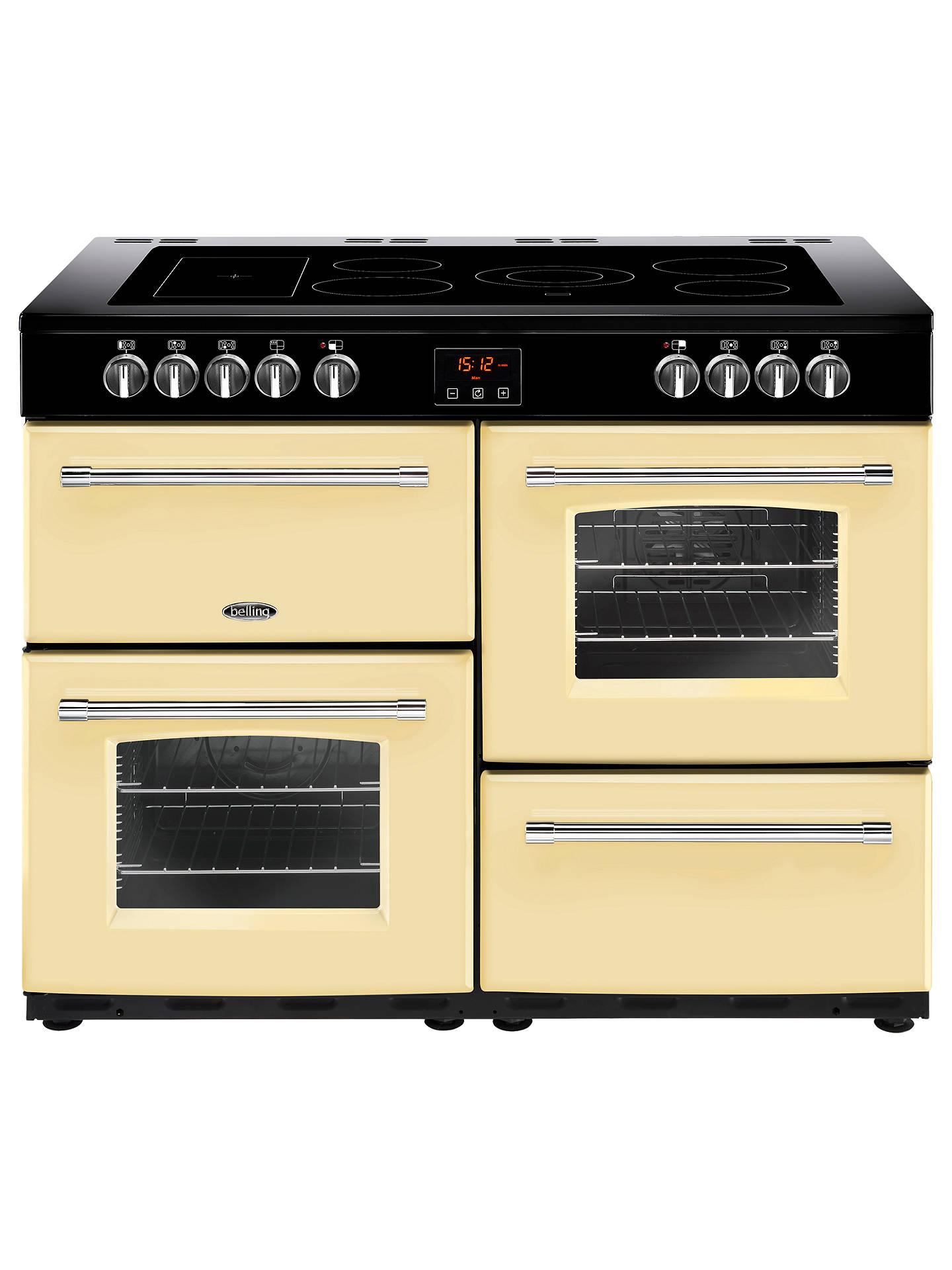 BuyBelling Farmhouse 110E Electric Range Cooker with Ceramic Hob, Cream Online at johnlewis.com