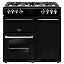 Buy Belling Farmhouse 90DFT Deluxe Dual Fuel Range Cooker Online at johnlewis.com