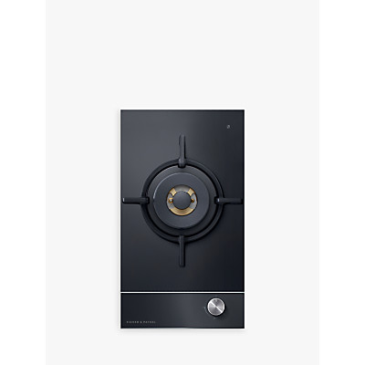 Fisher & Paykel CG301DLPGB1 LPG Gas Hob, Black Glass