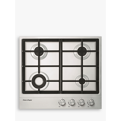 Fisher & Paykel CG604DNGX1 Gas Hob, Stainless Steel