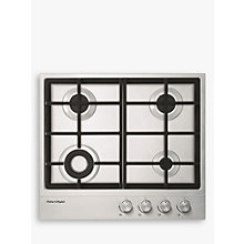 Buy Fisher & Paykel CG604DNGX1 Gas Hob, Stainless Steel Online at johnlewis.com