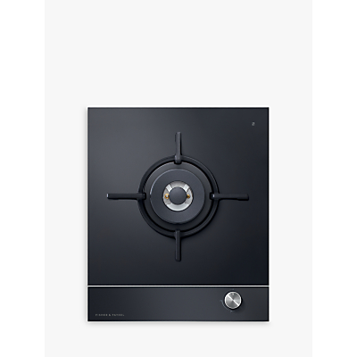 Fisher & Paykel CG451DLPGB1 Gas Hob, Black Glass