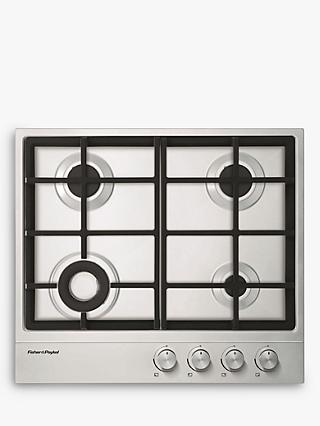Fisher & Paykel CG604DLPX1 Gas Hob, Stainless Steel