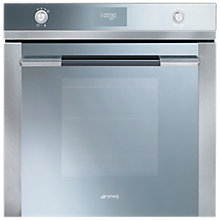 Buy Smeg SF109 Linea Aesthetic Single Oven, Silver Glass Online at johnlewis.com