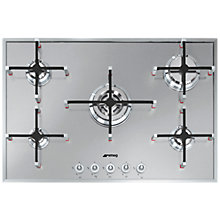 Buy Smeg PX750 Linea Aesthetic 75cm Gas Hob, Stainless Steel Online at johnlewis.com
