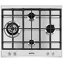 Buy Smeg P1641XT Linea Aesthetic Gas Hob, Stainless Steel Online at johnlewis.com