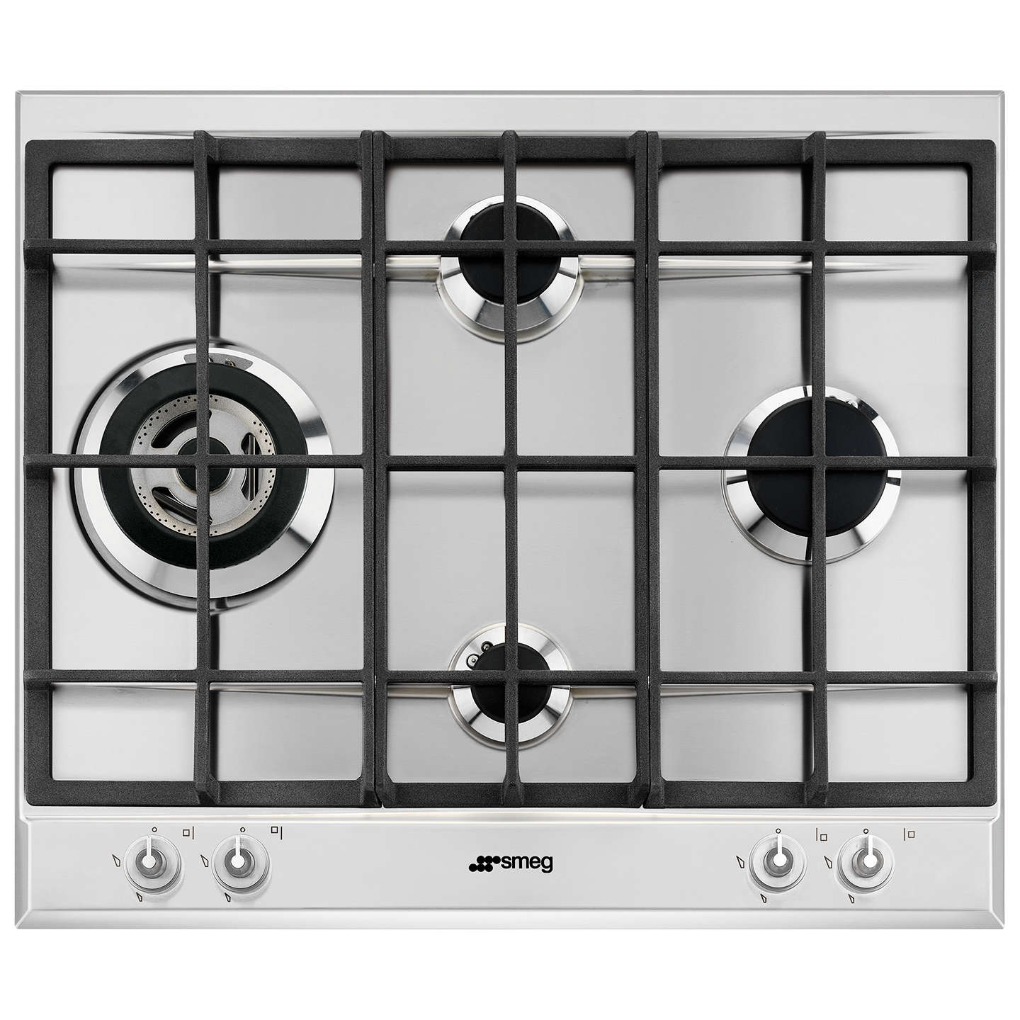 Smeg P1641XT Linea Aesthetic Gas Hob, Stainless Steel at John Lewis