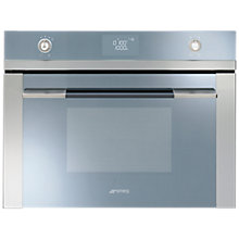 Buy Smeg SF4120M Linea Aesthetic Microwave Oven with Grill, Stainless Steel Online at johnlewis.com