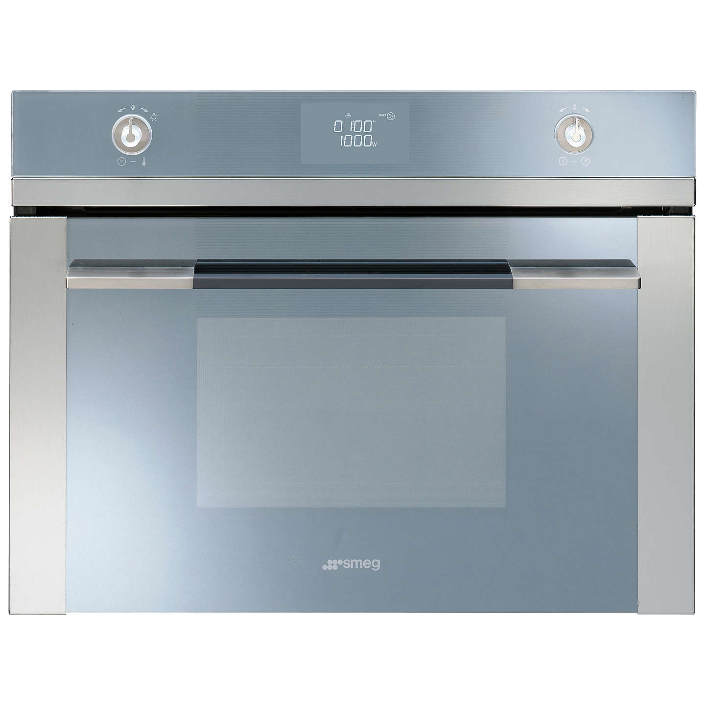 BuySMEG SF4120MC Linea Aesthetic Combination Microwave Oven, Stainless Steel Online at johnlewis.com