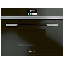 Buy Smeg SF4140MCN Linea Aesthetic Combination Microwave Oven with Touch Controls, Black Online at johnlewis.com