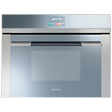 Buy Smeg SF4140MC Linea Aesthetic Combination Microwave Oven with Touch Controls, Stainless Steel Online at johnlewis.com