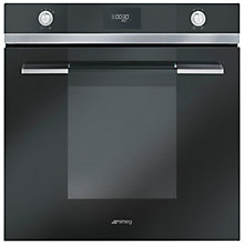 Buy Smeg SF109N Linea Aesthetic Single Oven, Black Online at johnlewis.com