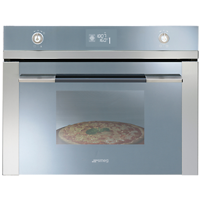 Image of Smeg SFP4120PZ Linea Aesthetic Compact Single Oven, Stainless Steel