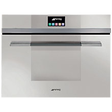 Buy Smeg SF4140MCB Linea Aesthetic Combination Microwave Oven with Touch Controls, White Online at johnlewis.com
