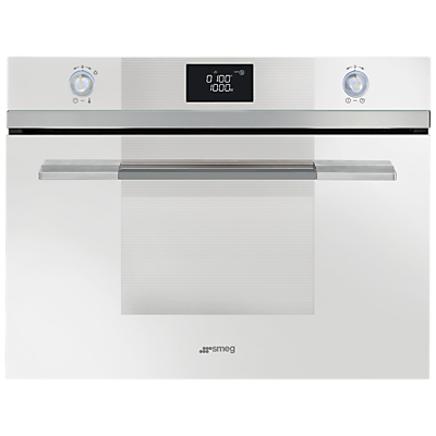 Image of Smeg SF4120MB Linea Aesthetic Microwave Oven with Grill, White
