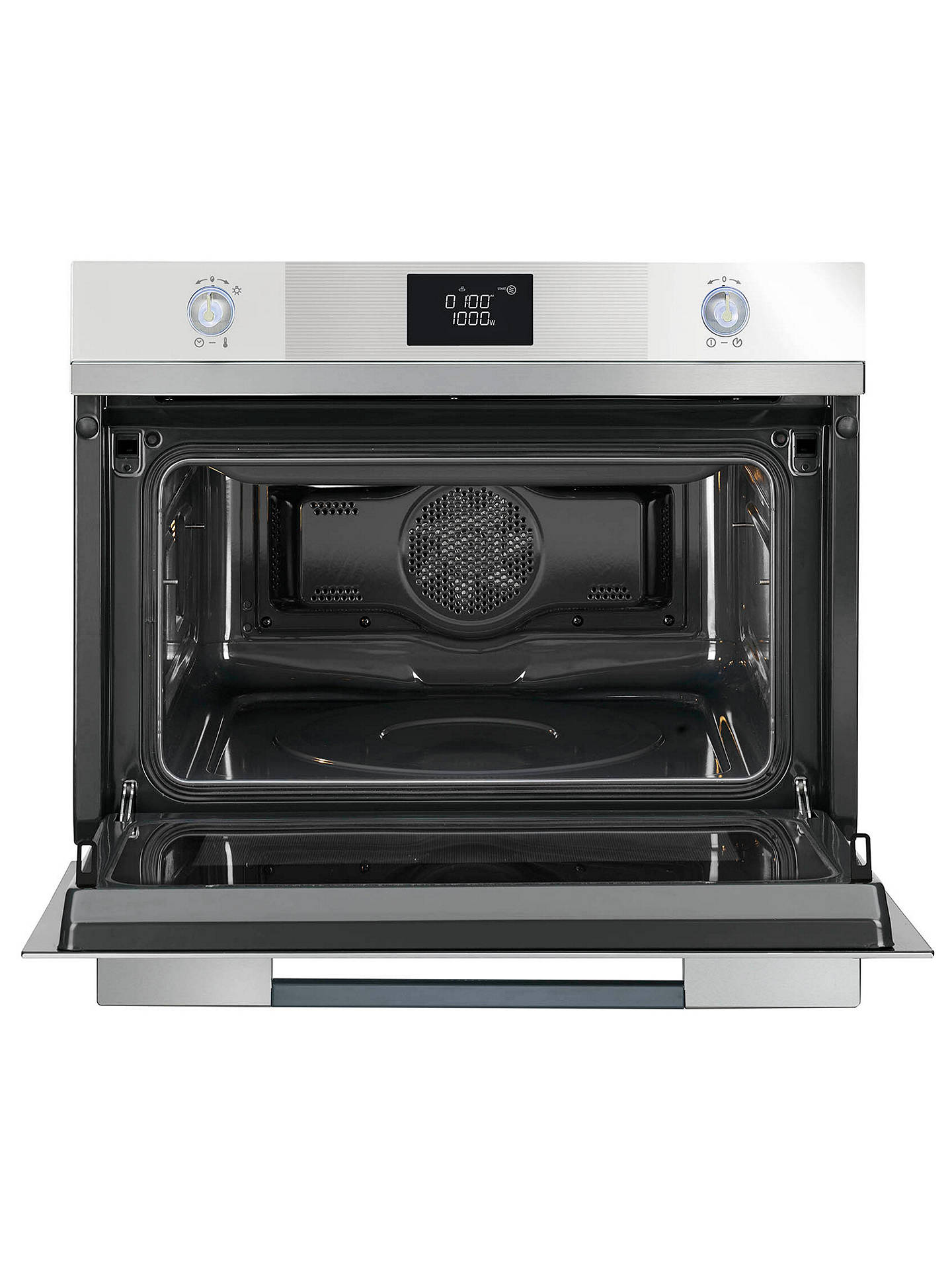Smeg Sf4120mb Linea Aesthetic Microwave Oven With Grill