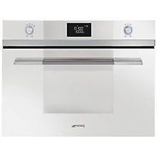 Buy SMEG SF4120MCB Linea Aesthetic Combination Microwave Oven, White Online at johnlewis.com