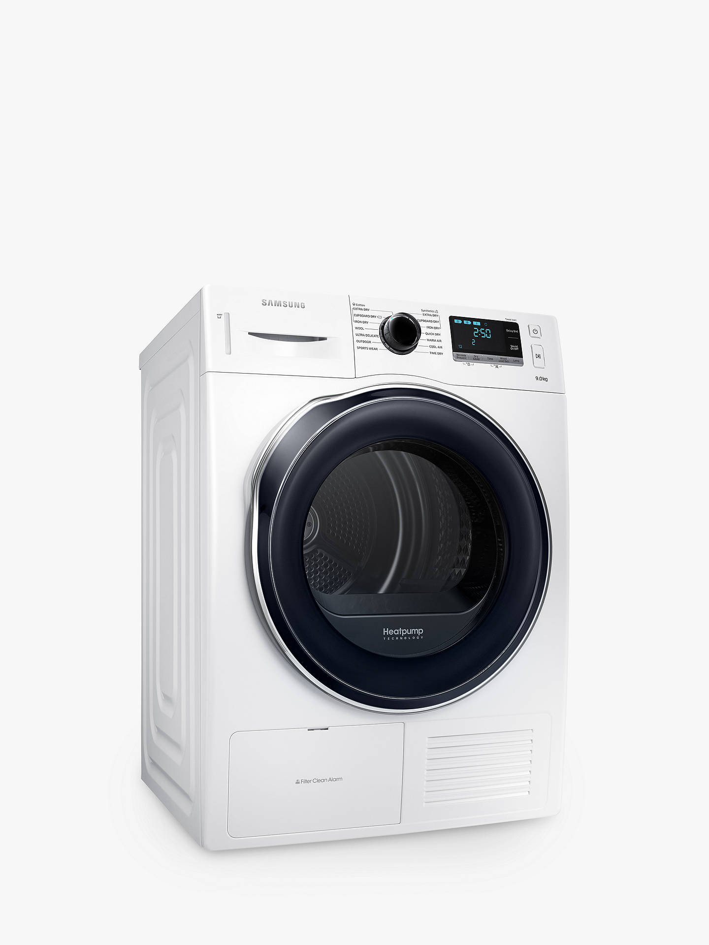 BuySamsung DV90K6000CW/EU Heat Pump Tumble Dryer, 9kg Load, A++ Energy Rating, White Online at johnlewis.com