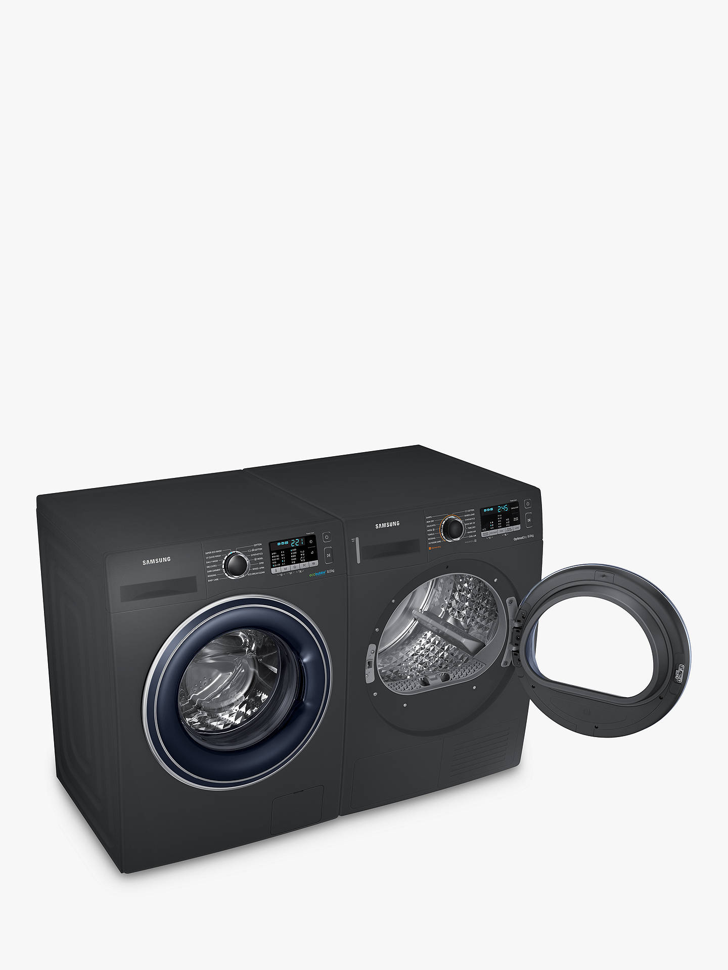 BuySamsung DV80M50103X Heat Pump Tumble Dryer, 8kg Load, A++ Energy Rating, Graphite Online at johnlewis.com