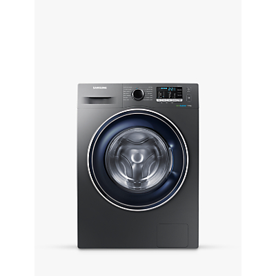Image of Samsung WW70J5555FX/EU ecobubble™ Freestanding Washing Machine, 7kg Load, A+++ Energy Rating, 1400rpm Spin, Graphite