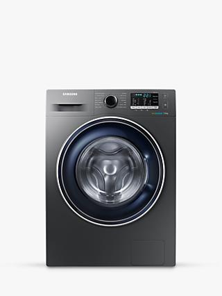 Samsung WW70J5555FX/EU ecobubble™ Freestanding Washing Machine, 7kg Load, A+++ Energy Rating, 1400rpm Spin, Graphite