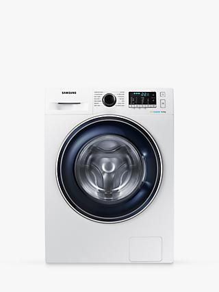 Samsung WW80J5555FW/EU ecobubble Freestanding Washing Machine, 8kg Load, A+++ Energy Rating, 1400rpm Spin, White