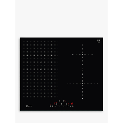 Image of Neff T56FD50X0 59.2cm Four Zone Induction Hob With FlexInduction Zone - Black Glass With Bevelled Front Edge