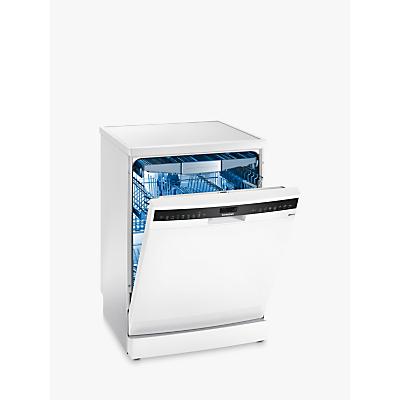 Image of Siemens SN258W06TG Freestanding Dishwasher, White