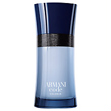 Buy Giorgio Armani Code Colonia Eau de Toilette Online at johnlewis.com