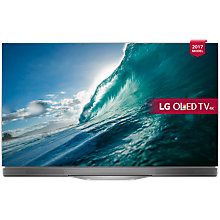 "Buy LG OLED55E7N OLED HDR 4K Ultra HD Smart TV, 55"" with Freeview Play, Picture-On-Glass Design & Dolby Atmos Sound Bar Stand, Silver Online at johnlewis.com"