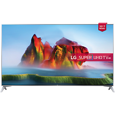 LG 49SJ800V LED HDR Super UHD 4K Ultra HD Smart TV, 49 with Freeview Play, Ultra Slim Design & Harman / Kardon Sound, Silver
