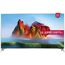 "Buy LG 49SJ800V LED HDR Super UHD 4K Ultra HD Smart TV, 49"" with Freeview Play, Ultra Slim Design & Harman / Kardon Soundbar Stand, Silver Online at johnlewis.com"