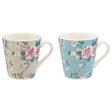 Buy Cath Kidston Trailing Rose Mugs, 475ml, Assorted, Set of 2 Online at johnlewis.com